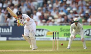 England's Ian Bell during day three of the first Ashes Test against Australia